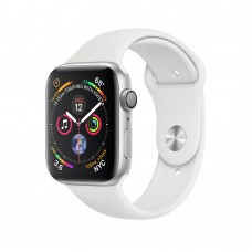 Apple Watch  Series 4  44mm GPS + Cellular Silver Aluminum Case with White Sport Band (MTUU2)