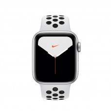 Apple Watch Series 5 Nike 40mm GPS Silver Aluminum Case with Pure Platinum/Black Nike Sport Band (MX3R2)