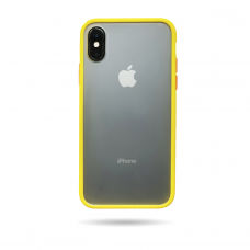 Matte Skin Case iPhone XS Yellow