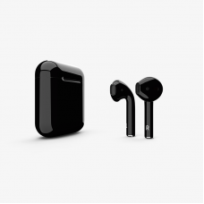 Наушники Apple AirPods 2 with Black Gloss Charging Case (MV7N2) 2019