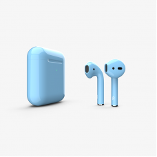 Наушники Apple AirPods 2 with Blue Gloss Wireless Charging Case (MRXJ2) 2019