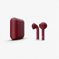 Наушники Apple AirPods 2 with Burgundy Matte Wireless Charging Case (MRXJ2) 2019